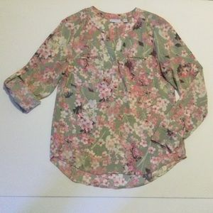 New York & Co. Long Sleeve Floral shirt